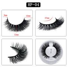 HP-04 GLAMAR 3D 100% Sebria mink lashes super high quality thick long fake eyelashes full strip hand made  false
