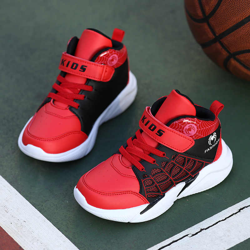 New Kids Sneakers Cartoon Spiderman Boys Basketball Shoes 2019 The Avengers Baby Casual Sport Running Children Shoes Girl Boot