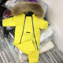 New baby down Jumpsuit boys and girls ski suit