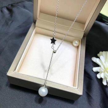 Cadena de Collar de plata Black Star 925 con hallazgos de colgante accesorios de piezas de joyería para perlas corales Jades piedras