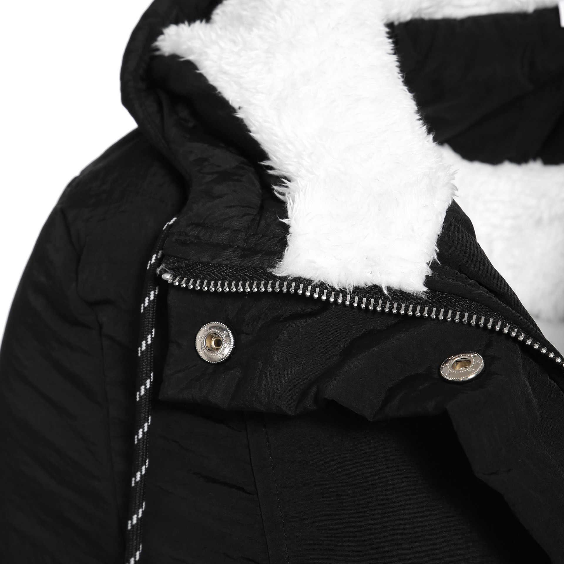Liva ガール女性パーカー冬コートのフード付き厚い綿暖かい女性のジャケットファッションミッドロングキルトコート生き抜くプラスサイズ 5XL