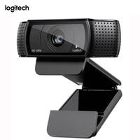 Logitech C920 Pro Webcam HD Smart 1080p web cam Widescreen Skype Video Call Laptop Usb Kamera 15MP Web Kamera