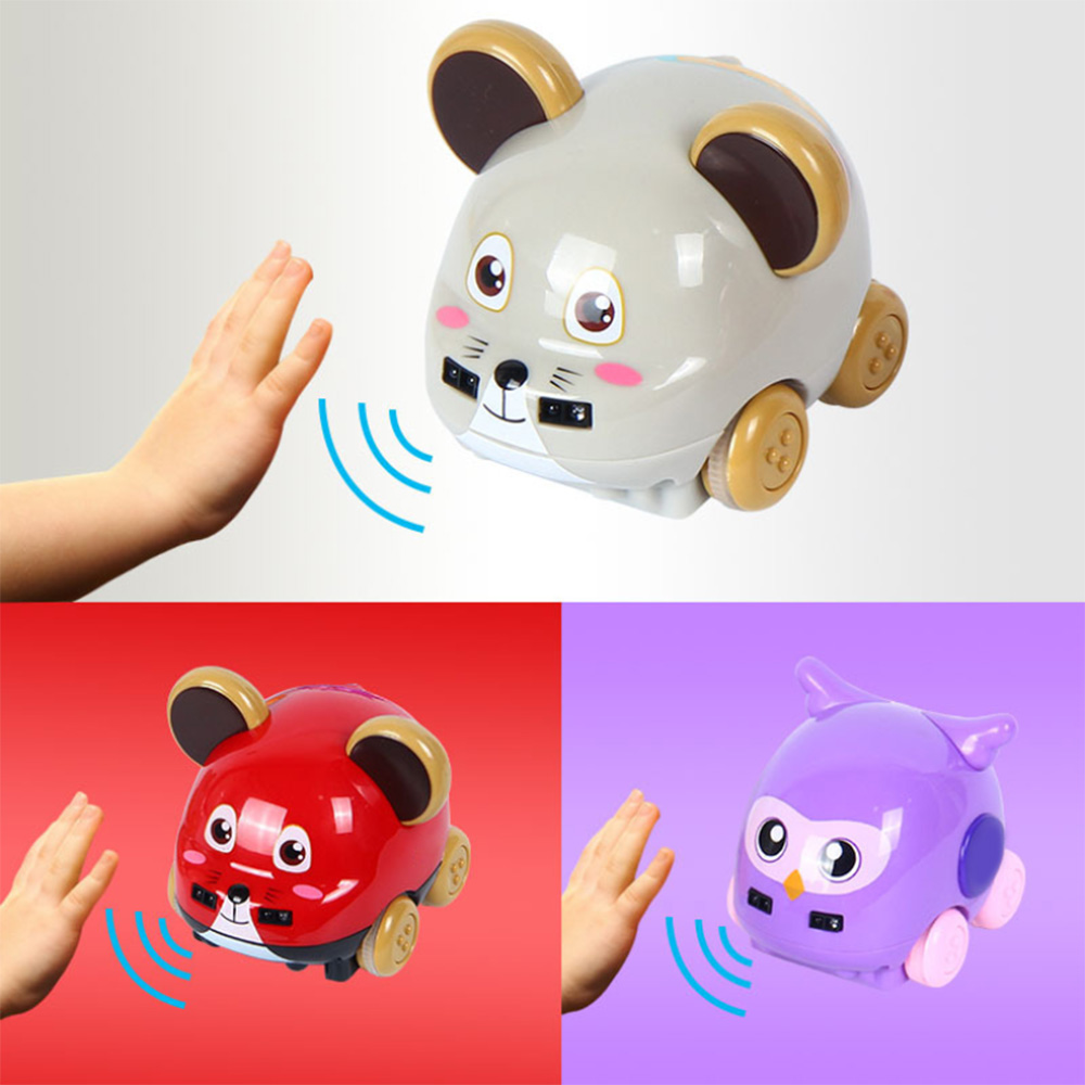 Kids Gesture Sensor Following Music Car Toys Cartoon Rat Car Toy Hand Remote Control  For Xmas Christmas Gifts