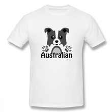 2019 funny tee cute t shirts Australian Shepherd men short sleeves cotton tops cool shirt summer Mens T-Shirt