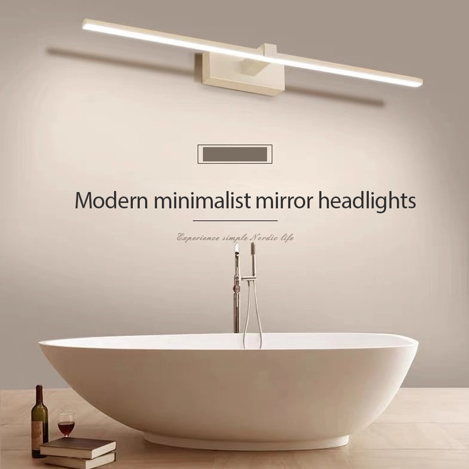 Modern Led Vanity Lights Bedroom Bathroom Toilet Mirror Cabinet Light 0.4-0.9M Creative Dressing Mirror Vanity Table Mirror Lamp