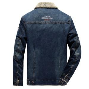 Image 4 - Winter Men Denim Jacket Mens Casual 2020 Man Slim Fit Denim Jackets Coat Outwear Fleece Male Wool Liner Warm Jeans Cowboy Jacket