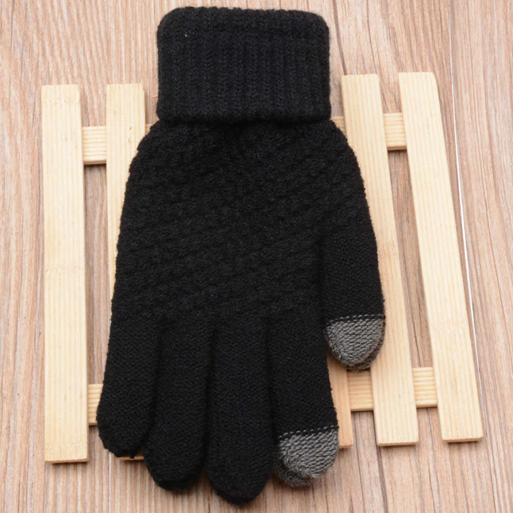 Magic Touch Screen Sensory Gloves For Women Gloves Girl Female Stretch Knit Gloves Mittens Winter Warm Accessories Wool #YL5