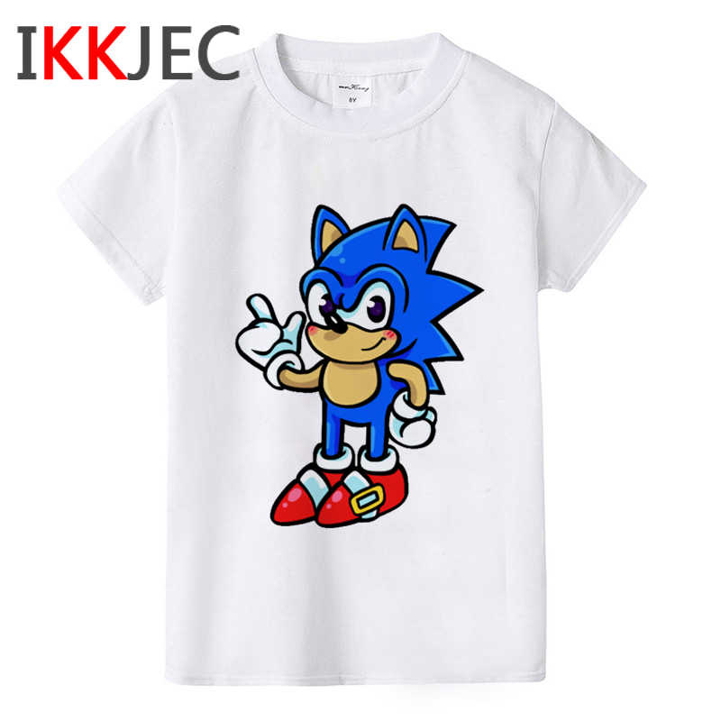 Sonic The Hedgehog Funny Cartoon T Shirt Kids Boys Girls Kawaii Sonic T Shirt Cute Anime Tshirt Graphic Fashion Top Tee Children Aliexpress