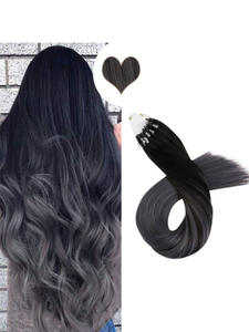 Human-Hair-Extensions Micro-Ring Ombre-Machine 14-24inch Remy-Hair Balayage 50g/100g