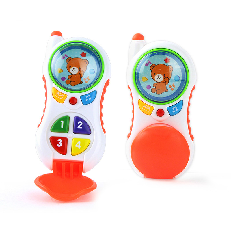 Baby Cell Phone Toy With Sound And Light Learning Study Kid Music Phone Educational Toy Birthday Christmas Gift
