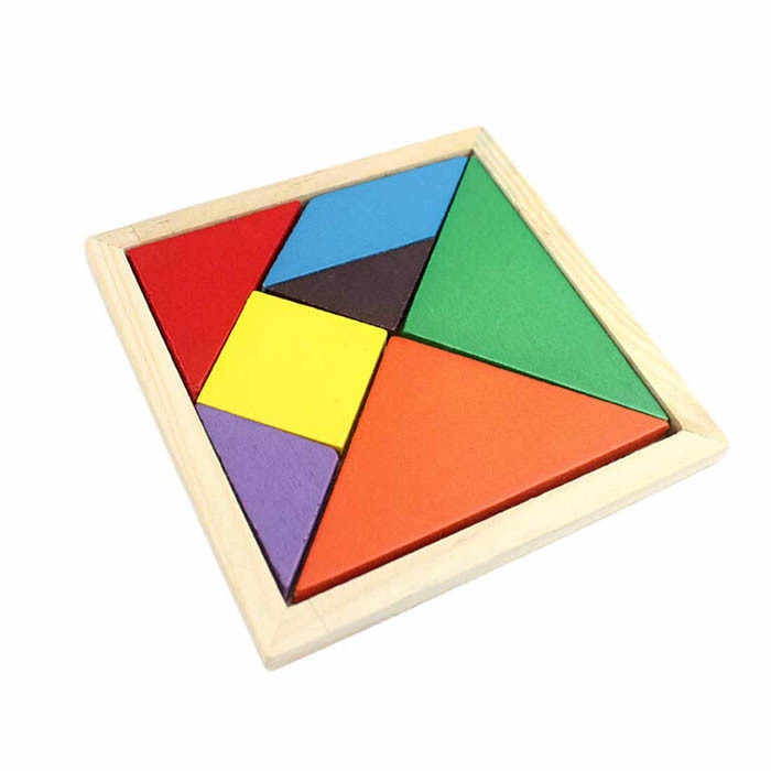HIINST IQ Game Brain Teaser Wooden Geometry Tangram Puzzle Shape Cognitive Intellectual Development Children's Toys Kid Toy Gift