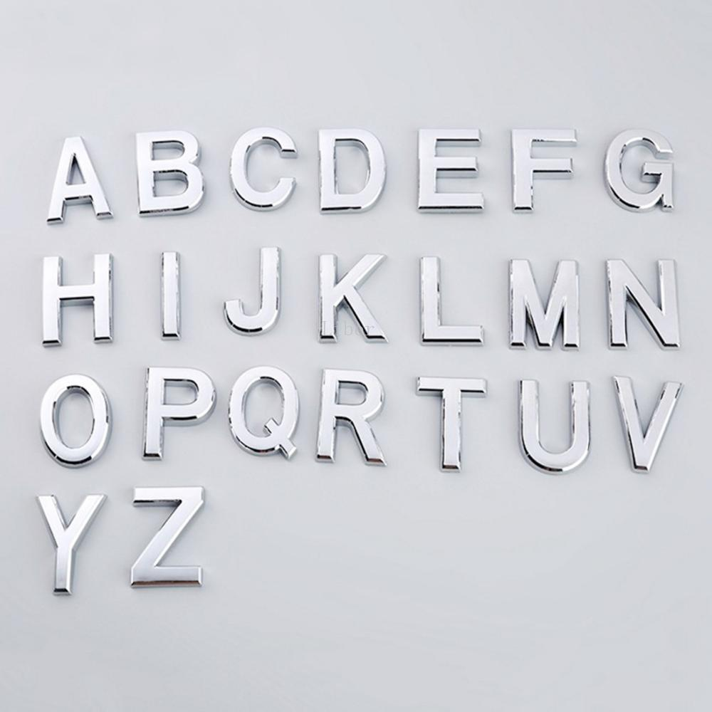 Self Adhesive Alphabet Letters 5cm Plastic Letters Office Apartment Hotel Address Mailbox Door Signs House Door Number Stickers