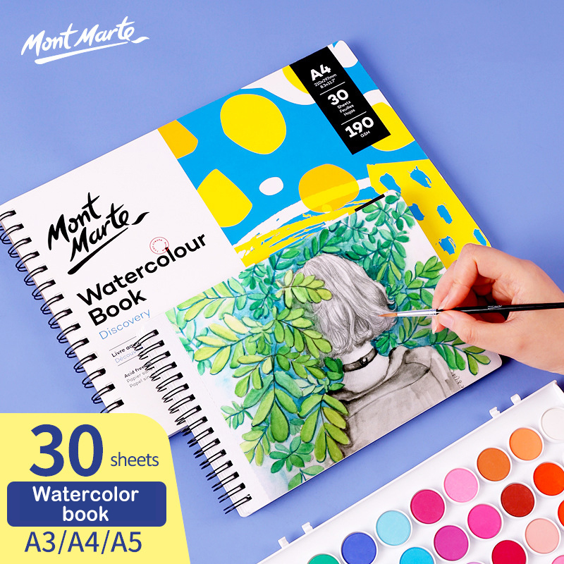 Thicken 30Sheets Water Color Painting Book A3/A4/A5 Transfer Watercolor Coil Sketchbook Drawing Paper Papel Acuarela Art Supplie