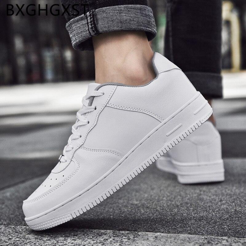 Fashion Men Shoes Leather Luxury Designer Shoes Men Brand Korean Style Summer White Shoes Men 2021 Zapatos Hombre Casual Tenis