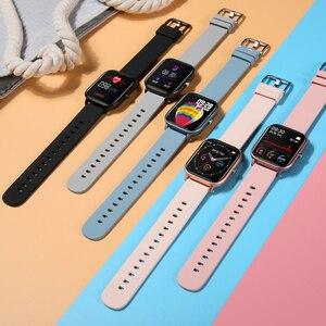 Image 2 - LYKRY 2020 Smart Watch P8 mężczyźni kobiety 1.4 calowy ekran w pełni dotykowy opaska monitorująca aktywność fizyczną pulsometr IP67 wodoodporna opaska sportowa GTS