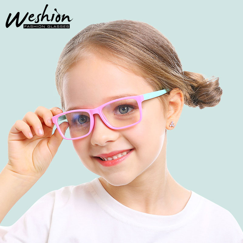 Children/'s Sunglasses Girls Kids Clear Frame Mirror Lens 7-12 Years Boys