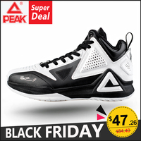 PEAK Men's Basketball Shoes Tony Parker I Perfessional Responsive Cushioning Breahtable Upper Sport Flexible Non slip Sneakers