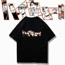 Men T-Shirt Haikyuu Manga Anime Kenma-Kuroo Round-Neck Volleyball Kageyama Tobio Oya