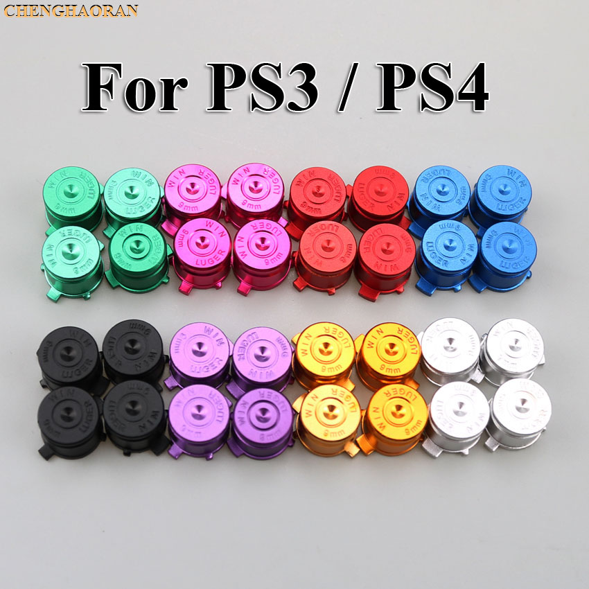 US $1 67 |1set=4pcs For Sony Playstation 3 4 Aluminum Metal Action Bullet  Buttons Mod Kit Set for PS3 PS4 Controller on Aliexpress com | Alibaba Group