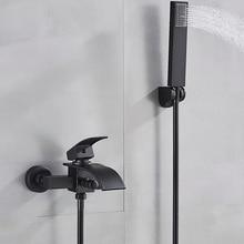 Смеситель для ванны Uythner, кран «Водопад» с одной ручкой и настенным креплением, кран для ванны