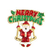2019 Special Offer Tin Alloy Brooches Lovers' Brooches For Pin Broche The New Europe And Fashion Drip Santa Claus Brooch claus offe europe entrapped