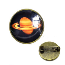 Nine Planets Solar System Brooches Astronomy Sweater Pins Mercury Earth Cosmic Brooch Space Pendant Universe Jewelry(China)