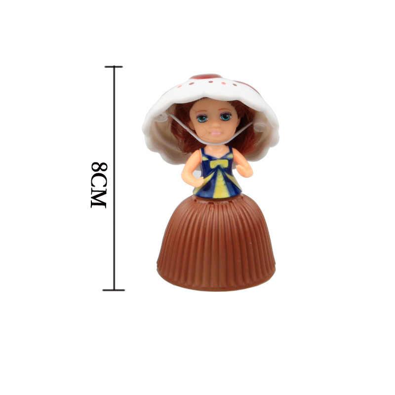 1 pc cupcake princesa boneca crianças transformadas perfumado bonito surpresa bonecas dos desenhos animados linda novidade menina presente de aniversário nty0009