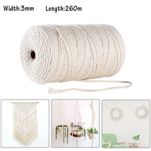 GoMaihe Macrame Cord 3mm x 260m, 100% Cotton Rope Craft String Twine for Wall Hanging Plant Hangers Knitting, Home Decorations