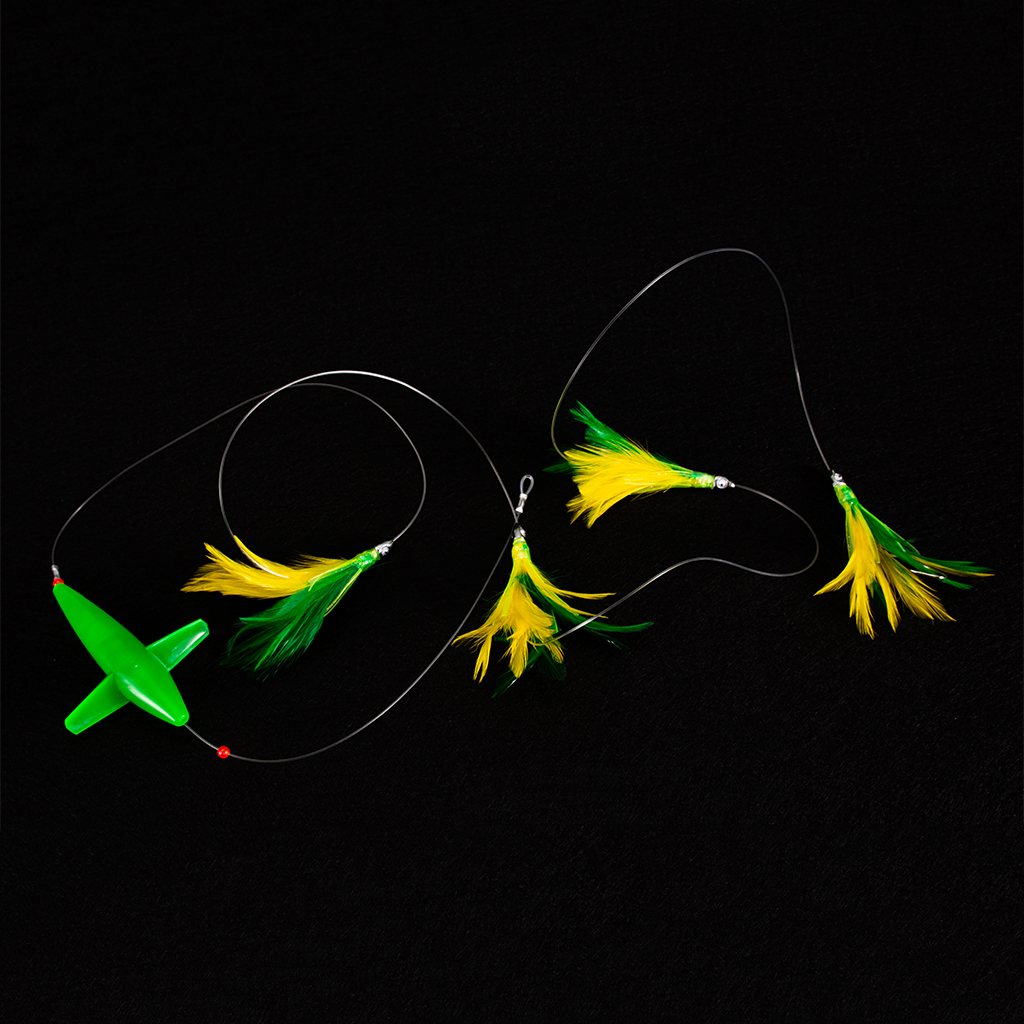 10cm Fully Rigged Big Game Daisy Bird Trolling Chain Boat Fishing Squid Lure Rig Teaser Optional Colors Fishing Lures