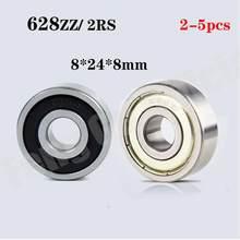 2/5PCS Hohe qualität ABEC-1 628 2RS 628RS 628-ZZ 628z 628 RS 8x24X8mm Miniatur doppel Gummi dichtung rillenkugellager
