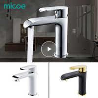 MICOE bad wasserhahn mischer becken wasserhähne waschbecken wasserfall waschbecken wasserhahn messing verchromt schiff heißes und kaltes wasser waschbecken wasserhähne weiß