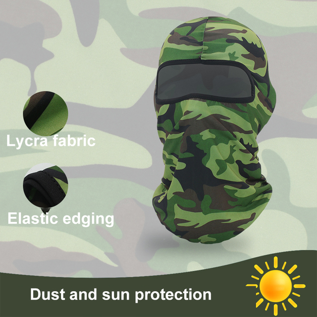 1 Pcs Motorcycle Outdoor Dustproof And Windproof Riding Mask Hood Camouflage Print Sports Hood Sunscreen Riding Mask