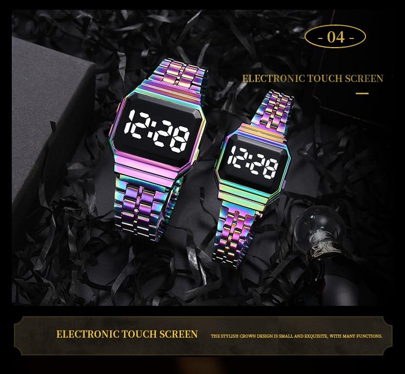 ouro rosa display eletrônico relógio de pulso