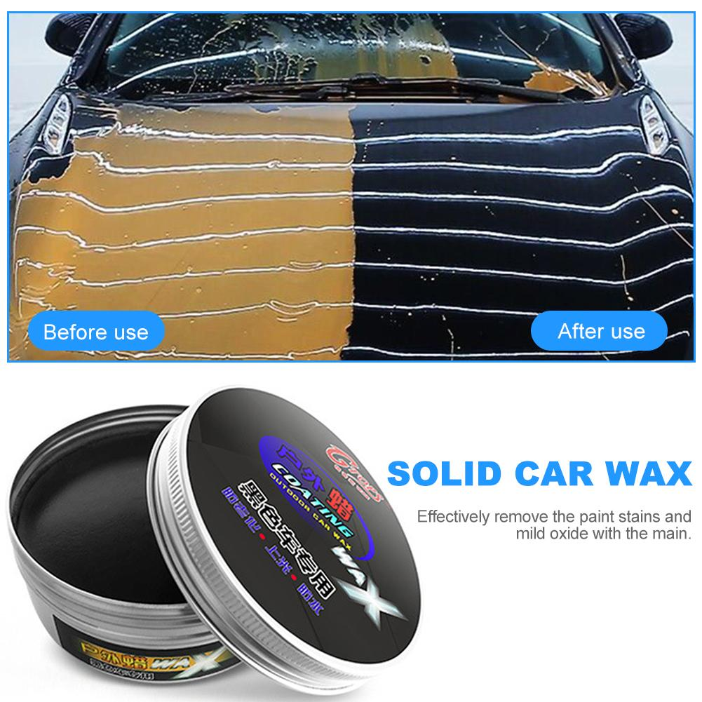 Car Black Wax Care Paint Waterproof Care Scratch Repair Car Styling Crystal Hard Car Wax Polish Scratch Remover