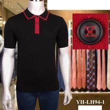 Billionaire polo shirt silk men 2021 New fashion casual summer short sleeve British print lines Breathable big size M-5XL