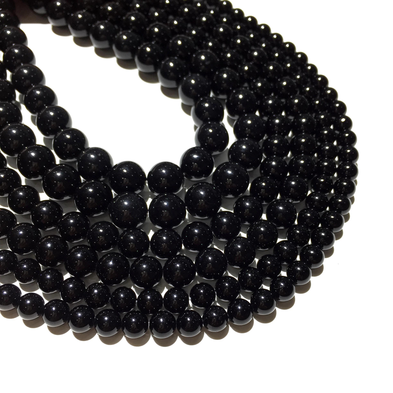 Round Shape Onyx  Beads Strand of 13 Inches