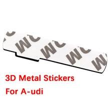 1pc novo metal carro auto cromo fosco prata preto distintivo para audi s linha sline a4 s4 rs4 a6 tt a3 emblema adesivo acessórios