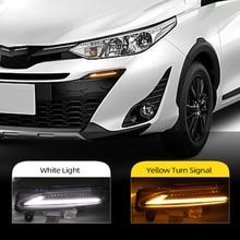 Luz LED intermitente para coche, luz diurna, intermitente para coche, DLR, para Toyota Yaris 2017 2018 2019