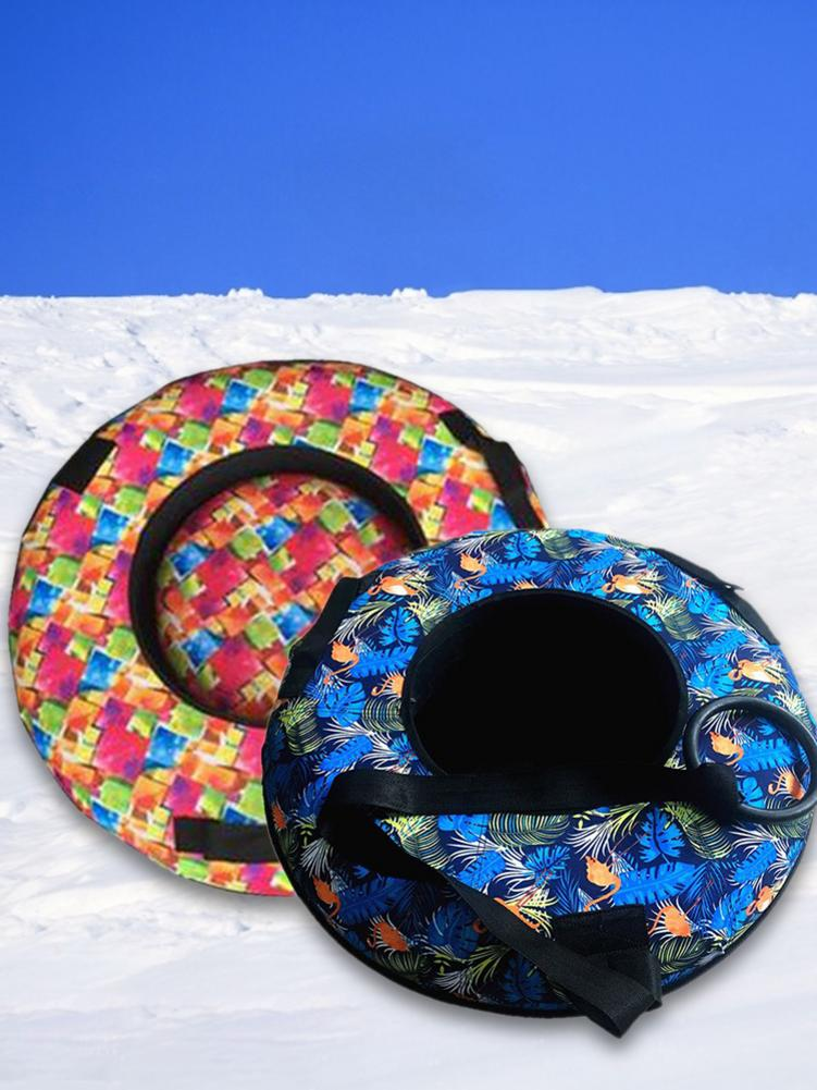70CM Inflatable Snow Tube With Handle Environmental Friendly Cold-resistant Inflatable Snow Sled For Adults And Children