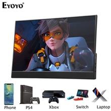 """EYOYO EM15R شاشة 15.6 """"FHD 1920x1080 المحمولة شاشة LCD رقيقة جدا ضئيلة الحافة الضيقة على شكل حرف L عرض الجسم لأجهزة الكمبيوتر المحمول"""