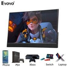 """EYOYO EM15R 15,6 """"FHD 1920x1080 портативный монитор ЖК экран ультратонкий тонкий L образный корпус для ноутбука ПК"""