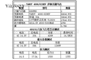 Image 3 - Tarot 4006 620KV Bürstenlosen Motor TL68P02 für FY680 Pro/Ähnlich Multi mehrachsen copters Multicopters