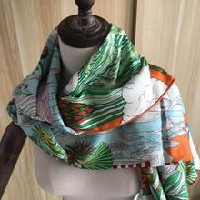 35%Silk Scarf Wrap Animal-Scarf Women 65%Cashmere Spring Classic-Design Girl Autumn