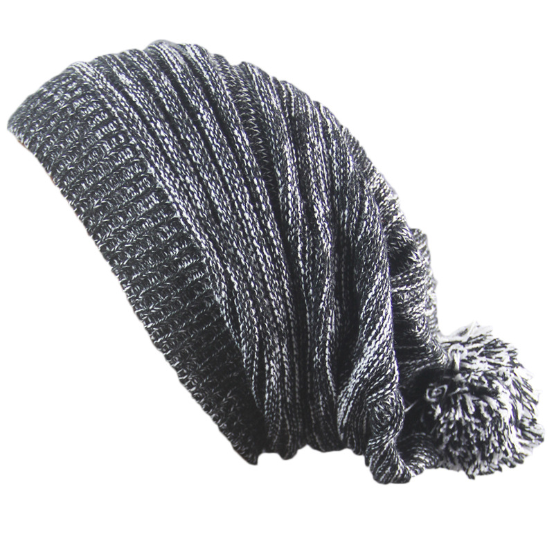 Men's And Women Winter Double-colour Thousand-layer Folded Knitted Hat Pompom Female Warm Skullies Beanies Hedging Cap Z87