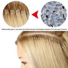 20/50/100g Hair-Extension Italian Keratin 100-% Alileader Brown White Color I-Tip/u-Tip