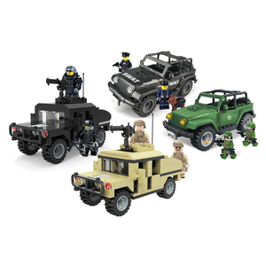 Enlighten Building Block City SpeciaI Police SWAT Team Jeep MOC Educational Brick Toy Boy Gift-No Box