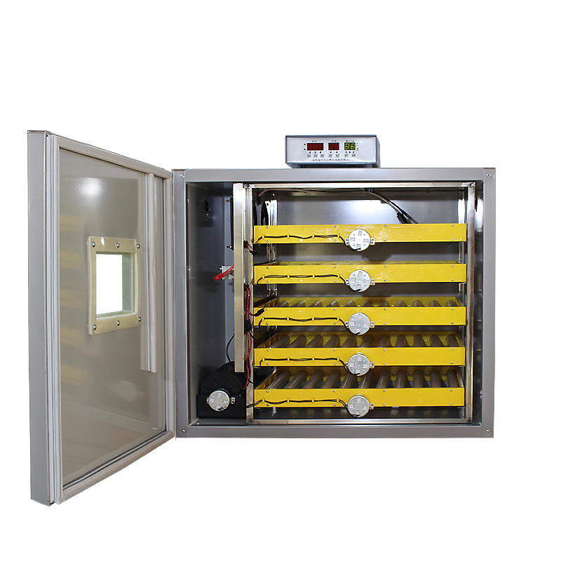Stainless Steel Automatic Egg Incubator DC12V/AC220V 160W Intelligent Controller Incubator 300 Eggs Industrial Egg Hatcher
