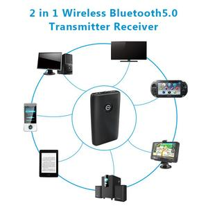 Image 5 - جديد 2 في 1 بلوتوث 5.0 جهاز ريسيفر استقبال وإرسال التلفزيون PC مكبر صوت للسيارة 3.5 مللي متر AUX ايفي الموسيقى محول الصوت