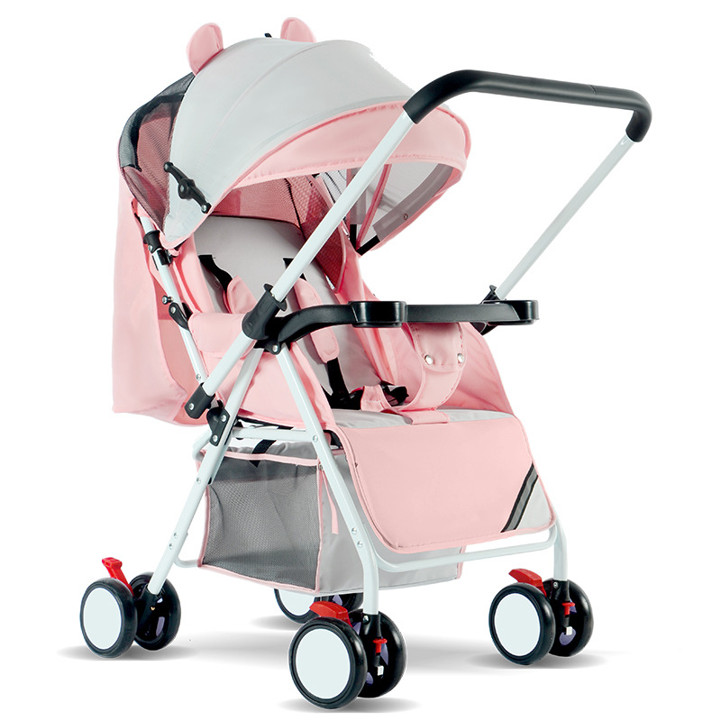 Wholesale Baby Carriage Stroller Ultra Light And Convenient Folding Can Sit Lie Baby Simple Child Mini Four Wheel Cart