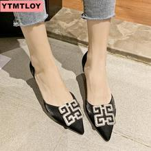 2019 HOT womens shoes pointed shallow suede stiletto heels mouth single wild